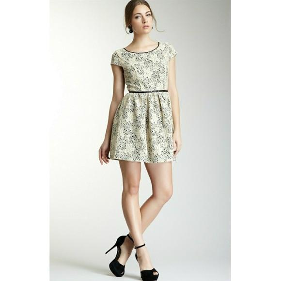 4834beca89060 Kensie Eyelet A line Dress W Exposed Back Zipper
